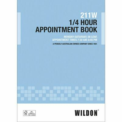 Wildon 211W 1/4 Hour Appointment Book