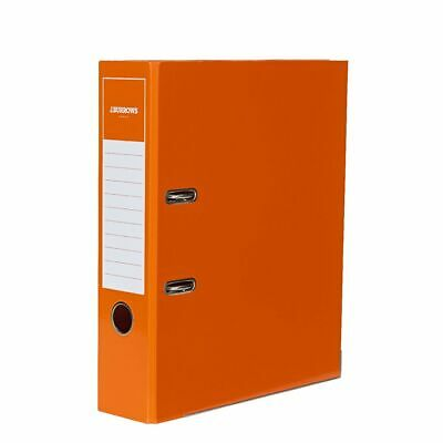 J.Burrows Gloss Lever Arch File A4 2 Ring Orange