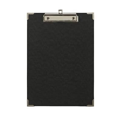 Clipboard A4 with Metal Corners Black