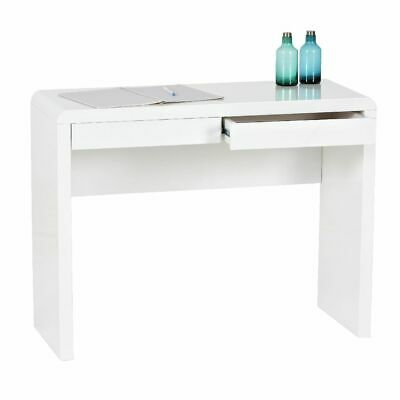 Arc 2 Drawer Desk White