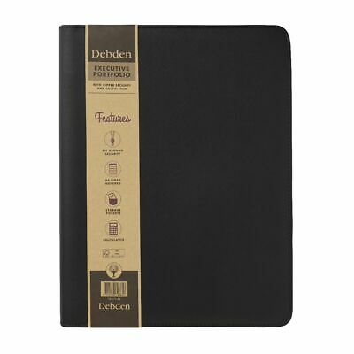 Collins Debden A4 Zippered Executive PU Portfolio