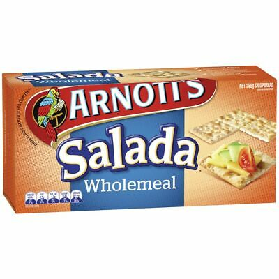 Arnott's Salada Wholemeal Crackers 250g