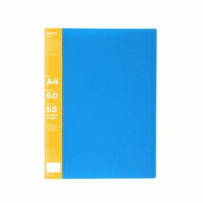 ColourHide My Biggest Display Book A4 Fixed 60 Pocket Blue
