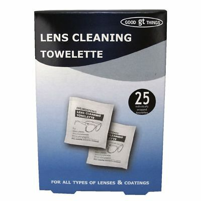 Good Things Lens Cleaning Towelette 25 Pack NEW