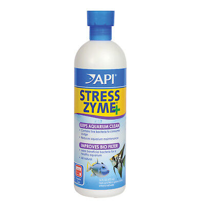 FREE SHIPPING API Stress Zyme 473mL Aquarium Fish Tank with Beneficial Bacteria