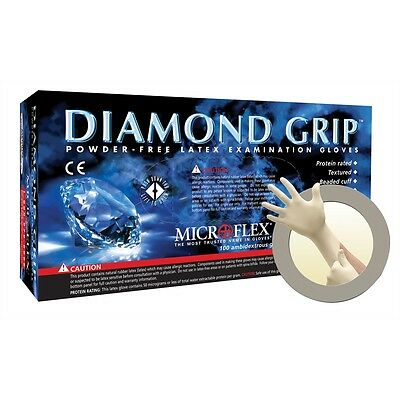 Microflex MF-300 Diamond Grip Powder Free Latex Gloves 10 Boxes