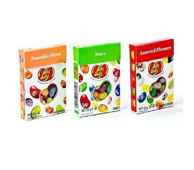 Jelly Belly 1xSmoothie 1xSour 1xAssorted Flavours 50g jelly Bean Candy - New