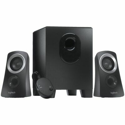 NEW Logitech Speakers 25 Watt Speaker System Black Z313 Computer Speakers