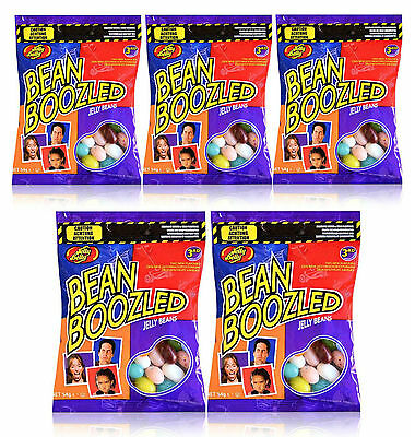 5 x Jelly Belly 3rd Edition Bean Boozled 54g Refill Candy Bags - New
