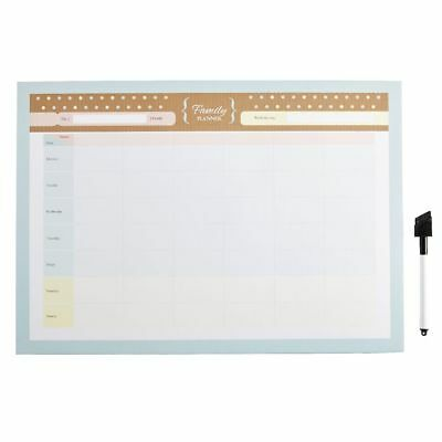 A3 Dry Erase Family Planner With Marker Natural