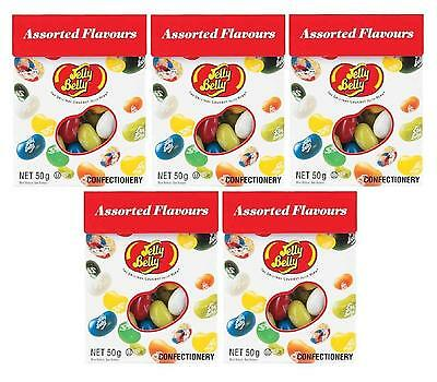 5 x Jelly Belly Assorted Flavours 50g The Original Gourment jelly Bean - New