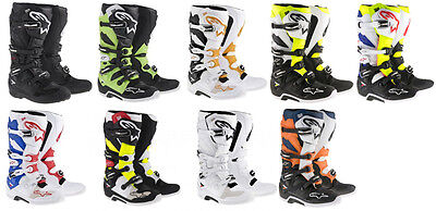 Alpinestars Mens Tech 7 MX Motocross Offroad CE Riding Boots