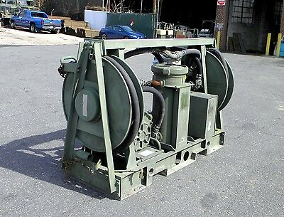 Military Surplus Aluminum Skid Mounted Fuel Transfer Pump Unit MIL-T-40136 Used