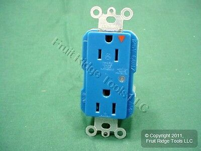 Leviton BLUE ISOLATED Ground SURGE SUPPRESSION Receptacle Outlet 15A 5280-IGB