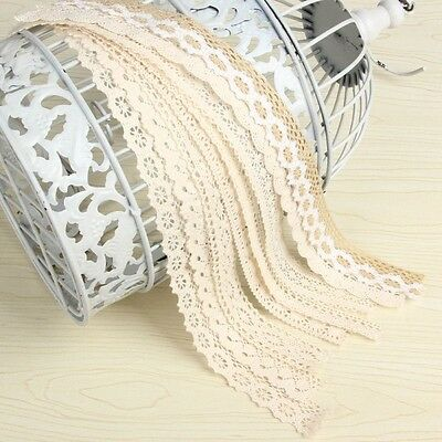 10yard/lot Cotton Lace Trim Clothing Decorative Ribbon Home DIY Sewing Wedding C