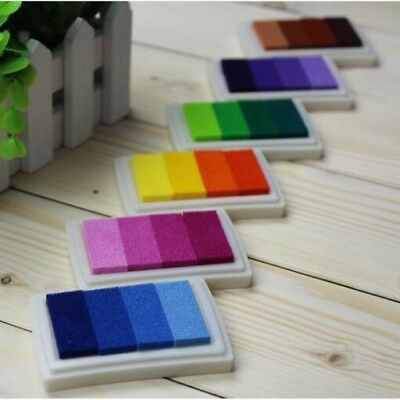 1PCS 6style Inkpad Ink stamp pad Colorful Cartoon Craft Inkpad set for DIY funny