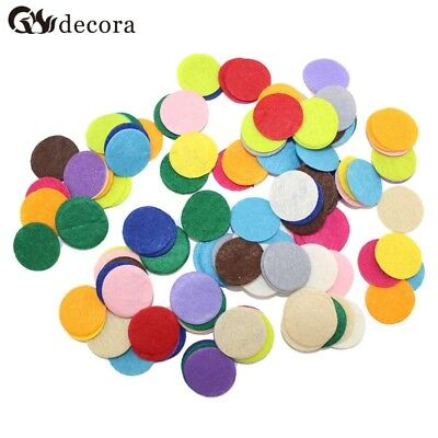 DECORA 200 PCS 2.5CM Eco-friendly Round Felt Fabric Pads Accessory Patches Circl