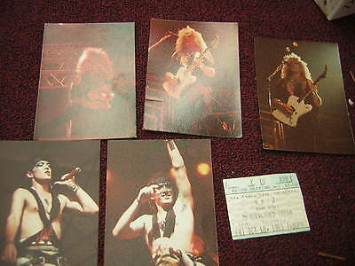 Ratt Ticket Stub 10=18-1985 W/unpublished Original Prints From 85 Robbin Crosby