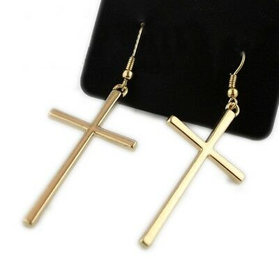 Newest 2015 Fashion Drop Earrings Cross Shape Vintage Silver Gold Color For Wome