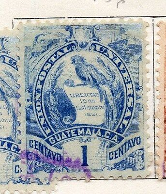 Guatemala 1886-94 Early Issue Fine Used 1c. 087551