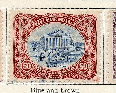 Guatemala 1902 Early Issue Fine Used 50c. 087572