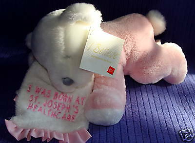 Russ I Believe 94399 Pink/white Bear W/blanket Nwt ~Br5