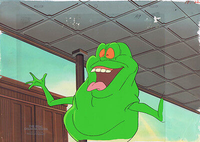 The Real Ghostbusters Production Animation Cel & Hand Painted Bkgd #A8842