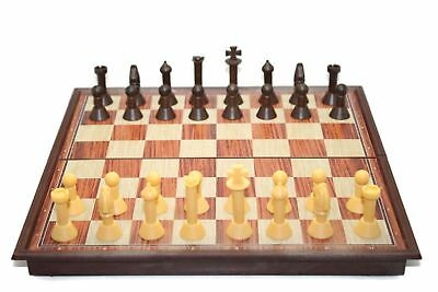 Wooden Look Magnetic Folding Chess Board Pieces Portable Games Kids Adults