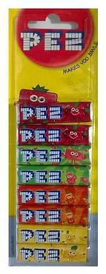 Pack Of 8 PEZ Refills Fruit Flavour Sweets For PEZ Dispenser- in UK
