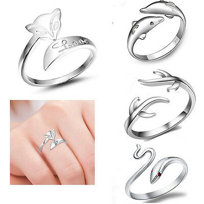 925 Sterling silver ring finger fashion women lady Opening Ring Perfect For Gift