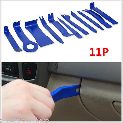 11 PCS Car Stereo radio Audio Trim Removal Kit Tools Pry Panel Door Dash Install
