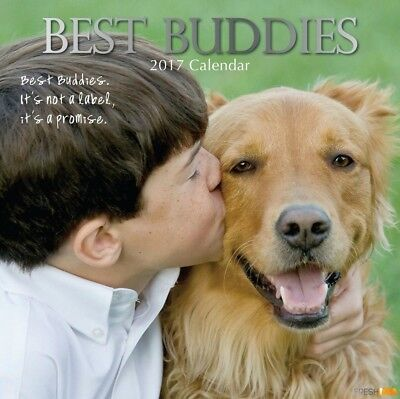 Best Buddies - 2017 Wall Calendar 16 Months by The Gifted Stationery (S)