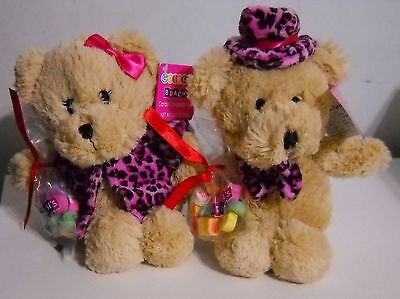 Galerie Valentine  Plush Boy Girl Bears With Brach's Candy Conversation Hearts
