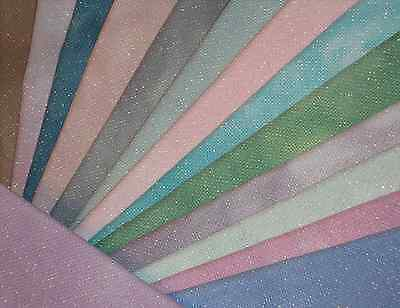 ZWEIGART/SILKWEAVER 18 Count Opalescent Hand Dyed Aida Fabric for Cross Stitch