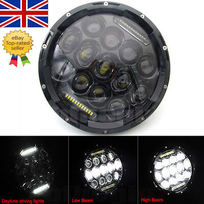 """For Harley 7"""" Motorcycle Projector Daymaker Headlight HID LED Light Lamp Black"""