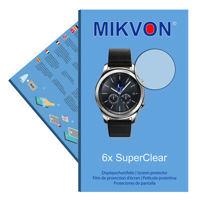 6x Mikvon films screen protector SuperClear for Samsung Gear S3 classic