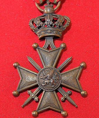 Ww1 Belgium Croix De Guerre 1914 - 18 Medal For Gallantry In Combat