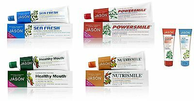 Jason Natural Organic Toothpaste Powersmile Healthy Mouth Nutrismile  Oral Care