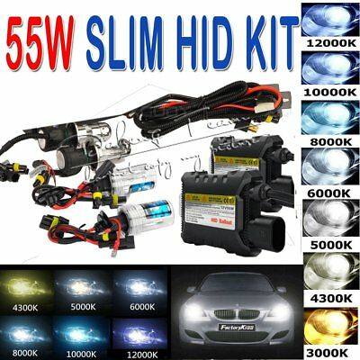55W HID Xenon Headlight Conversion KIT Bulbs H1/H3/H7/H11/9005/9006/880/881/9004