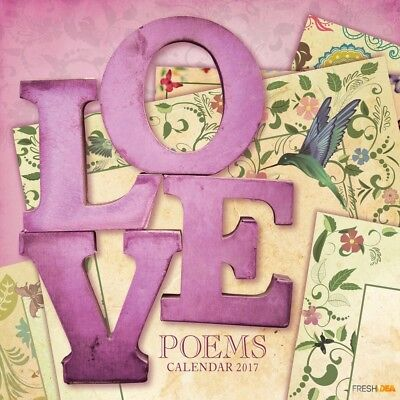 Love Poems - 2017 Wall Calendar 16 Months by The Gifted Stationery (J)