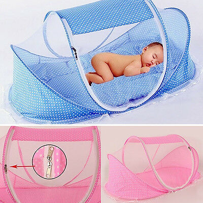 Baby Bed Folding Anti Mosquito Net Modeling Mattress Pillow Tent Crib Lovely