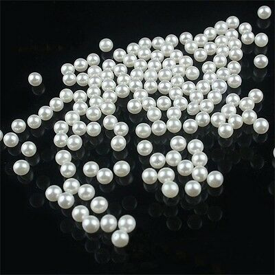200 piece/lot 5MM DIY White Round Imitation Acrylic Pearl Round Spacer Loose Cha