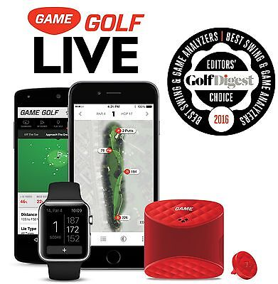 GAME GOLF LIVE 2017 DIGITAL GPS TRACKER RECORDS SHOT DATA VIEW INSTANTLY Golfer