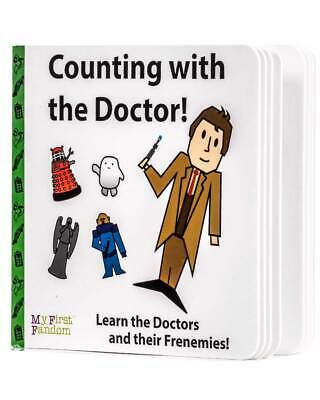 Counting With The Doctor Who Baby Kids Board Book BBC Novelty Fandom Gift Cute