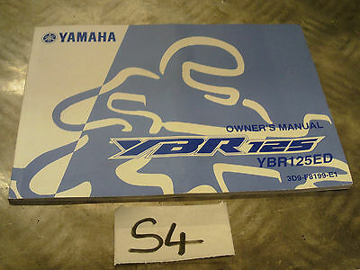 Yamaha Ybr125 Owners Manual Book 3D9-F8199--E1 *free Uk Post*s4