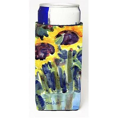 Carolines Treasures Flower Sunflower Michelob Ultra s For Slim Cans 12 oz. • AUD 47.47