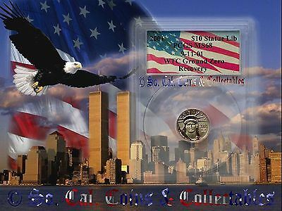 WTC 2001 PCGS MS68 $10 Dollar Recovery Platinum Pop 4