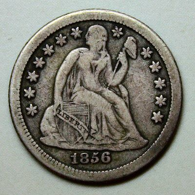 1856-O Seated Liberty Dime * Full LIBERTY * Nice Originality