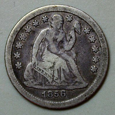 1856-O Seated Liberty Dime * Full LIBERTY * Lovely Coin