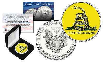 GADSDEN U.S. FLAG - Don't Tread On Me - 1 oz. PURE AMERICAN SILVER EAGLE w/BOX